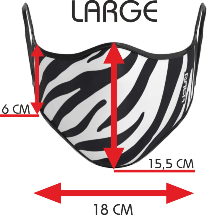 Dimensioni mascherina Zebra Large