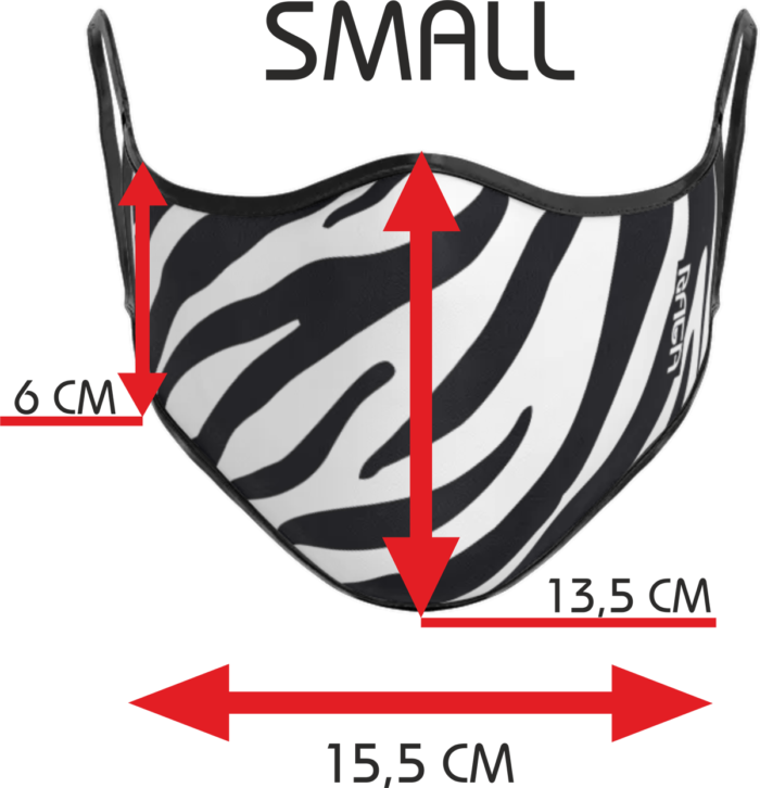 Dimensioni mascherina small Zebra